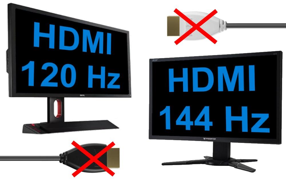 No HDMI 120Hz 144Hz