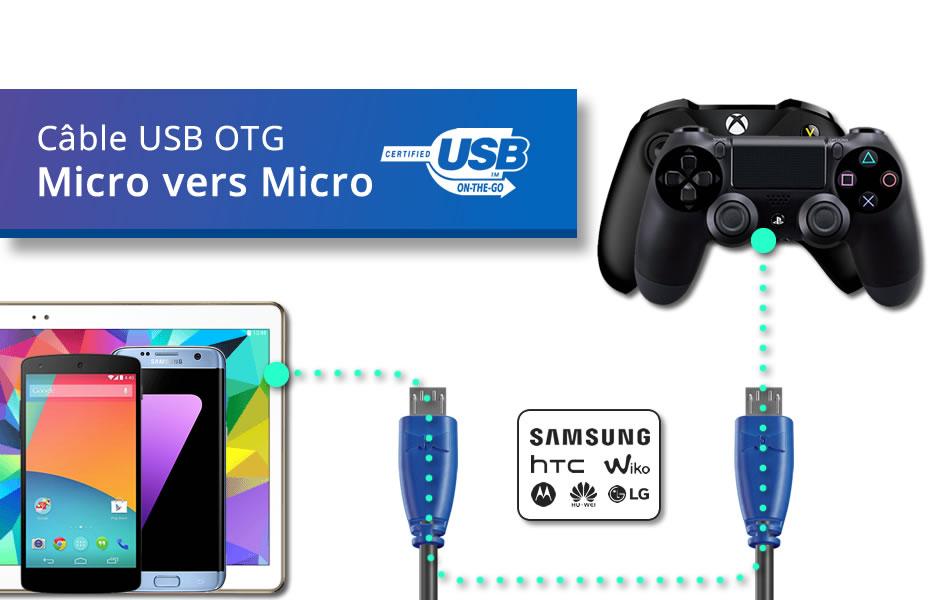 Câble OTG (Type Micro vers Micro)