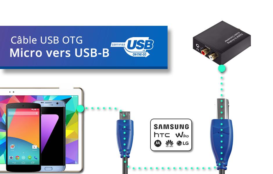Câble OTG (Type Micro vers B)