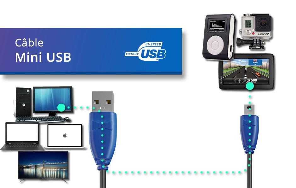 Câble Mini USB