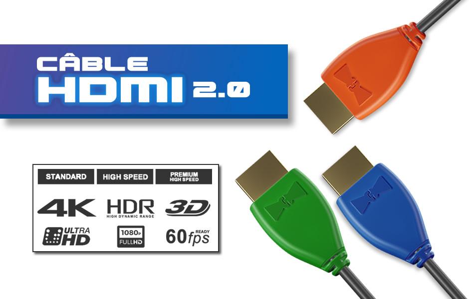 Câbles HDMI 4K 60Hz HDR