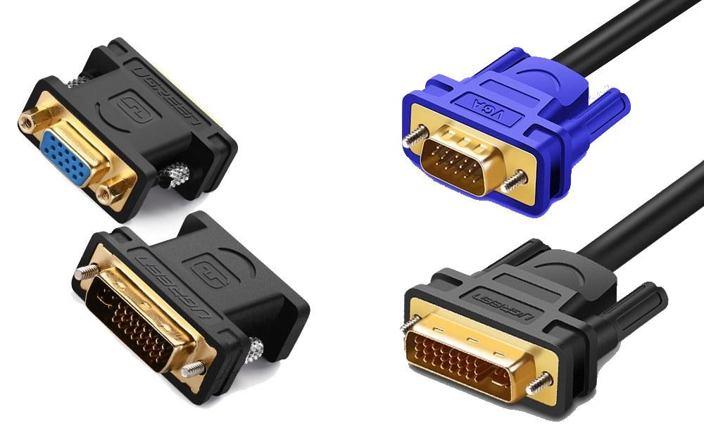 Câble et adaptateur VGA vers DVI