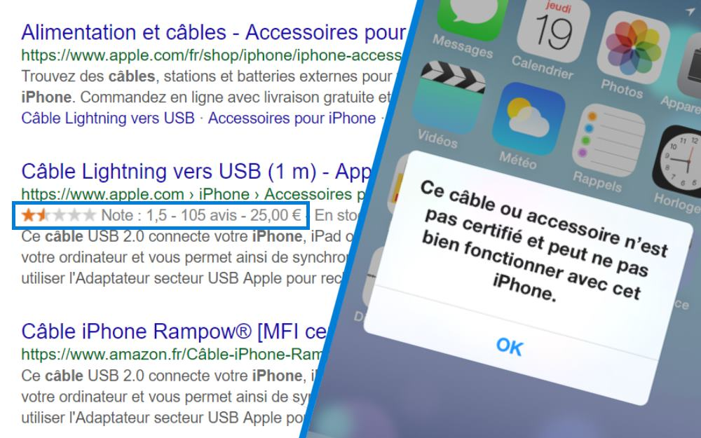 Qualité certification Apple MFi