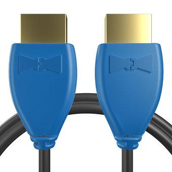 Câble HDMI 2.0 4K 60Hz HDR - 18Gbit/s Premium High Speed - ARC Ethernet - UHD 2160p 1m Bleu et Noir (sans marquage)