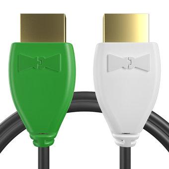 Câble HDMI pour Lecteur Blu-ray YAMAHA Vert, Noir et Blanc - 1m