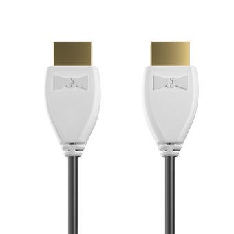 Câble HDMI Premium High Speed - HDMI 2.0 / 4K / HDR 1m Blanc et Noir (sans marquage)