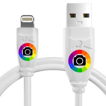 Personnalisez votre câble pour apple iphone 5c : couleurs, longueur et marquage des prises.