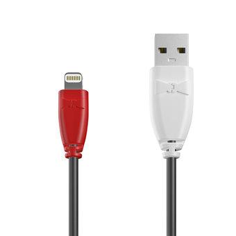 Câble Apple Lightning 1m Rouge, Noir et Blanc (marquage image «guitar»)