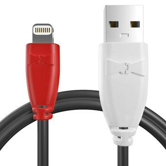 Câble pour Apple iPad mini Rouge, Noir et Blanc - 50cm