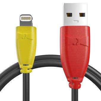 Câble pour Apple iPad mini Jaune, Noir et Rouge - 50cm