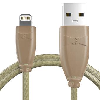 Câble pour Apple iPad mini Beige et Tissu beige - 50cm