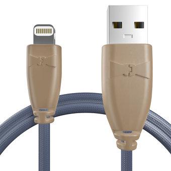 Câble pour Apple iPad mini Beige et Tissu bleu indigo - 50cm