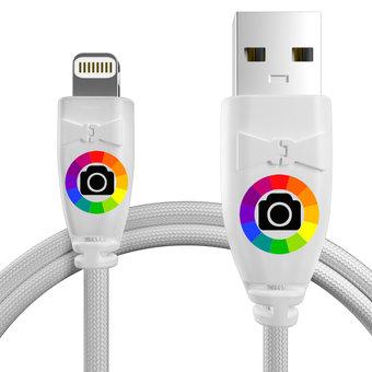Personnalisez votre câble iphone ipad tressé : couleurs, longueur et marquage des prises.