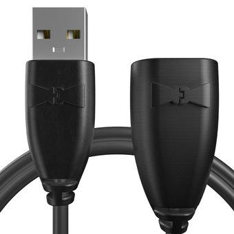 Rallonge USB 2m Noir (sans marquage)