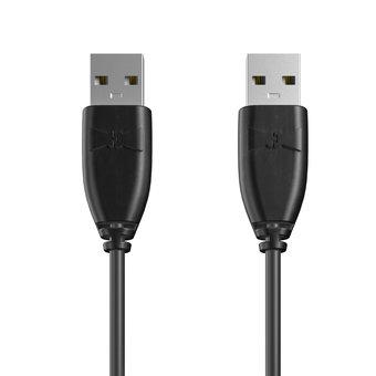 Câble USB (mâle / mâle) 1m Noir (sans marquage)