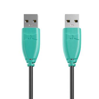 Câble USB (mâle / mâle) 1m Bluemint et Noir (marquage image «bestdadinthegalaxy»)