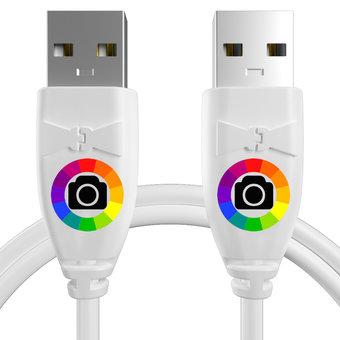 Personnalisez votre câble usb (mâle / mâle) : couleurs, longueur et marquage des prises.