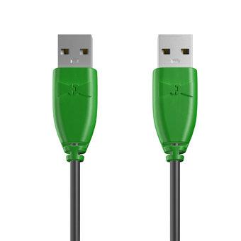 Câble USB (mâle / mâle) 1m Vert et Noir (marquages image «spaceinvader» & image «spaceinvader»)