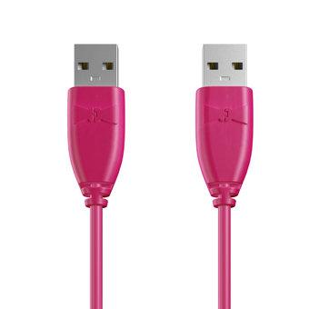 Câble USB (mâle / mâle) 1m Rose (sans marquage)