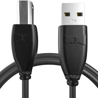 Câble USB-B 1m Noir (sans marquage)
