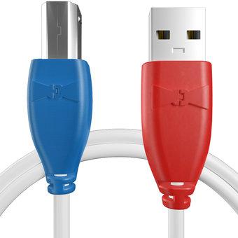 Câble pour Imprimante Hewlett Packard (HP) Bleu, Blanc et Rouge - 50cm