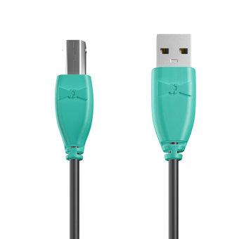 Câble USB-B 1m Bluemint et Noir (marquage image «bestdadinthegalaxy»)