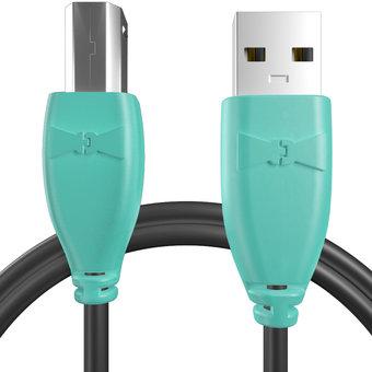 Câble pour Imprimante Hewlett Packard (HP) Bluemint et Noir - 50cm
