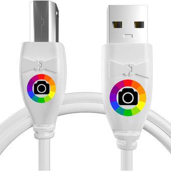 Personnalisez votre câble pour imprimante kyocera : couleurs, longueur et marquage des prises.