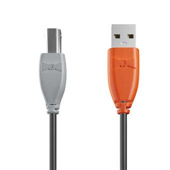 Câble USB-B 1m Gris, Noir et Orange (marquage image «swrebels»)