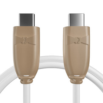 Câble pour Console Nintendo Switch Beige et Blanc - 50cm