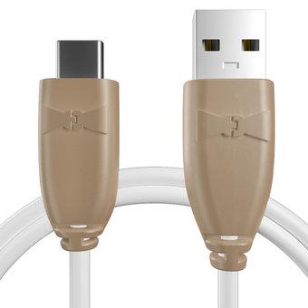 Câble pour Sony Xperia X Compact Beige et Blanc - 50cm
