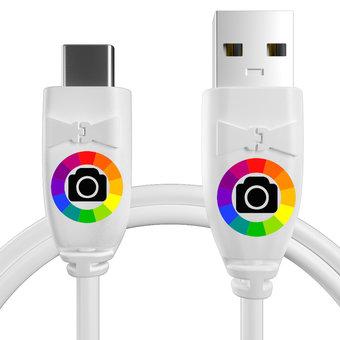 Personnalisez votre câble pour samsung galaxy a7 (2017) : couleurs, longueur et marquage des prises.