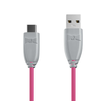 Câble USB Type C 1m Gris et Rose (marquages image «shell» & image «shell»)
