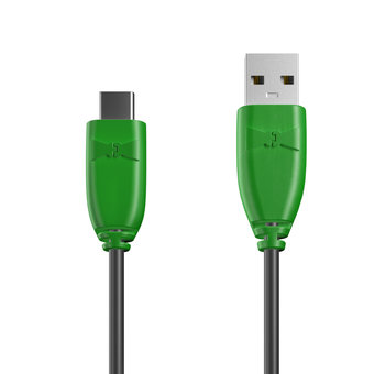 Câble USB Type C 1m Vert et Noir (marquages image «spaceinvader» & image «spaceinvader»)