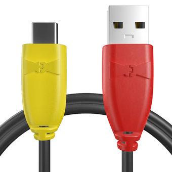 Câble pour Sony Xperia X Compact Jaune, Noir et Rouge - 50cm
