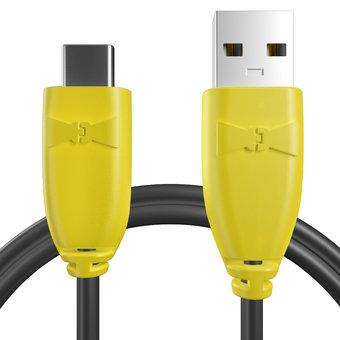 Câble pour Sony Xperia X Compact Jaune et Noir - 50cm