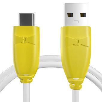 Câble pour Sony Xperia X Compact Jaune et Blanc - 50cm