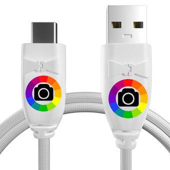 Personnalisez votre câble usb type c tressé : couleurs, longueur et marquage des prises.