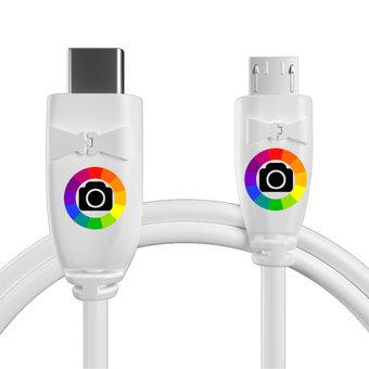 Personnalisez votre câble usb type c vers micro : couleurs, longueur et marquage des prises.