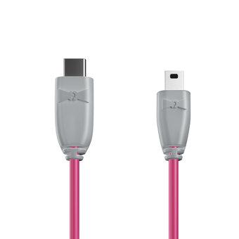 Câble USB Type C vers Mini 1m Gris et Rose (marquages image «shell» & image «shell»)