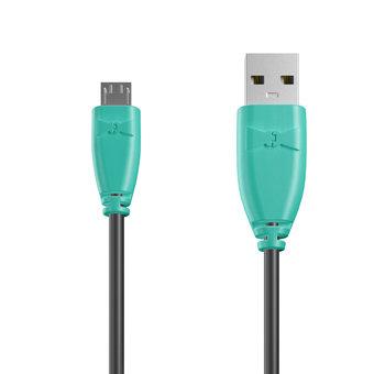 Câble Micro USB 1m Bluemint et Noir (marquage image «bestdadinthegalaxy»)