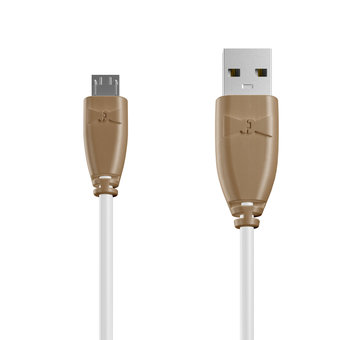 Câble Micro USB 1m Beige et Blanc (marquages image «assassinscreed» & image «assassinscreed»)