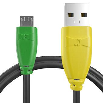 Câble pour Celkon A77 Vert, Noir et Jaune - 50cm