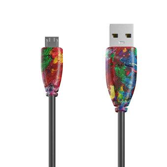 Câble Micro USB 1m Multicouleurs et Noir (sans marquage)