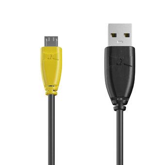 Câble Micro USB 1m Jaune, Noir et Noir (marquage image «batman»)