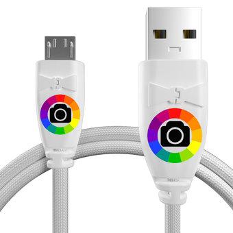 Personnalisez votre câble micro usb tressé : couleurs, longueur et marquage des prises.