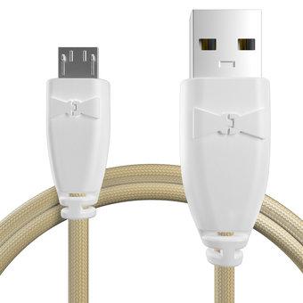 Câble pour Lenovo K3 Note Blanc et Tissu sable - 50cm