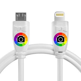 Personnalisez votre câble otg (type micro vers iphone·ipad) : couleurs, longueur et marquage des prises.