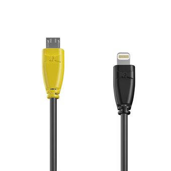 Câble OTG (Type Micro vers Lightning) 1m Jaune, Noir et Noir (marquage image «batman»)