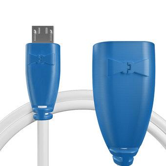 Câble OTG (Type Micro) pour Xiaomi Mi 4 LTE Bleu et Blanc - 10cm